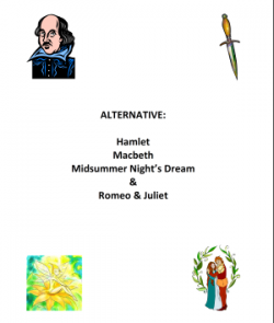 Alternative Shakespeare Scripts